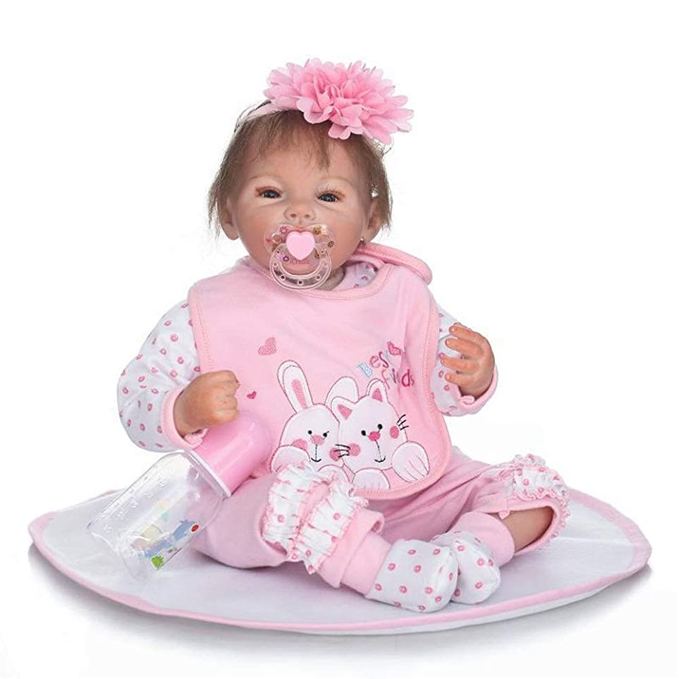 管理する役に立たない創造模擬赤ちゃん人形はお 現実的なリボーンベビードールリアルなシリコーンベビードール (Color : Photo Color, Size : 50cm)