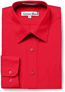 Sponsored Ad - GIOVANNI UOMO Men's Traditional Fit Solid Color Dress Shirt-More Colors