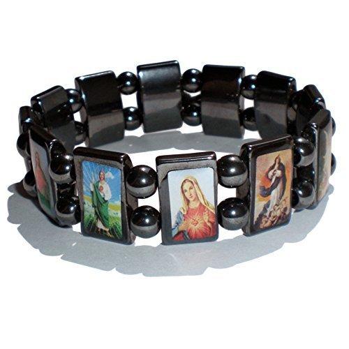 Christ of : Armband van de heilige ? Hematiet magnetisch/sieraad met natuurstenen