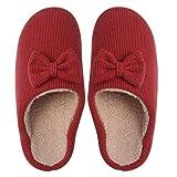 lanying Casa Zapatos Antideslizante Pantuflas Zapatillas Bowknot Mujer...