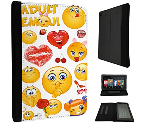 901 – Adulto caras sonrientes caras Emoji diseño Amazon Kindle Fire HD 10