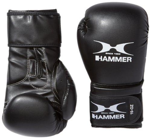Hammer Guantoni da Boxe Premium Training, Nero (Schwarz), 14 Once