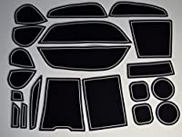KINMEI(キンメイ) BMW X5 白 専用設計 インテリア ドアポケット マット ドリンクホルダー 滑り止め ノンスリップ 収納スペース保護 ゴムマットクロスオーバー SUV X5モデルx5-w