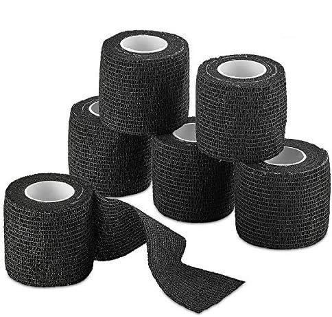 Self-Adherent Cohesive Bandage - Black Medical Wrap - 6 Rolls 2