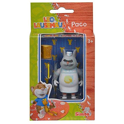 Simba 109222739 - Leo Lausemaus Figur Paco 7 cm