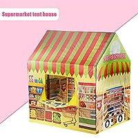 LWCHJ ゲームハウスプレイテントガールプリンセス屋内屋外玩具携帯用折りたたみ式秘密庭園プレイボールピットプールおもちゃ子供の子供 ( Color : Supermarket )