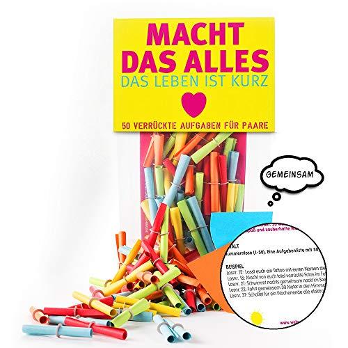 Monsterzeug Verlosungsspiel für Pärchen, Textlose mit Aufgaben für Paare, Lostüte mit Herausforderungen für Verliebte, Papierlose mit Challenges