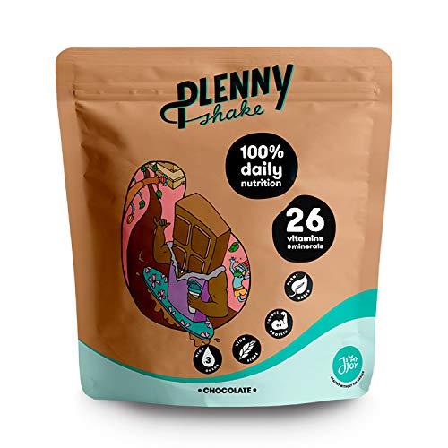 Jimmy Joy Chocolate Plenny Shake, 5 Bolsas x 4.000 kcal, Sustituto de Comida, Nutrición Completa 26 Vitaminas y Minerales, 20gr Proteína, Vegano, Sin Lactosa, Sin OGM