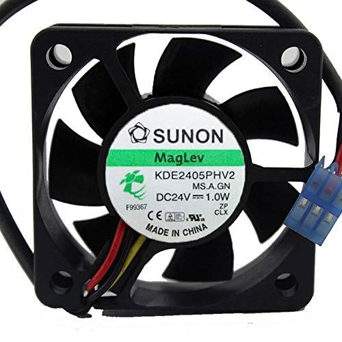 KDE2405PHV2 5015 DC24V 1.0W 50x50x15mm 2-wire Server Cooling Fan