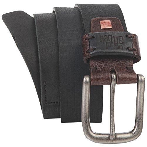 Lindenmann The Art of Belt Womens leather belt/Mens belt, Premium full grain leather belt Unisex, black, Größe/Size:100, Farbe/Color:noir