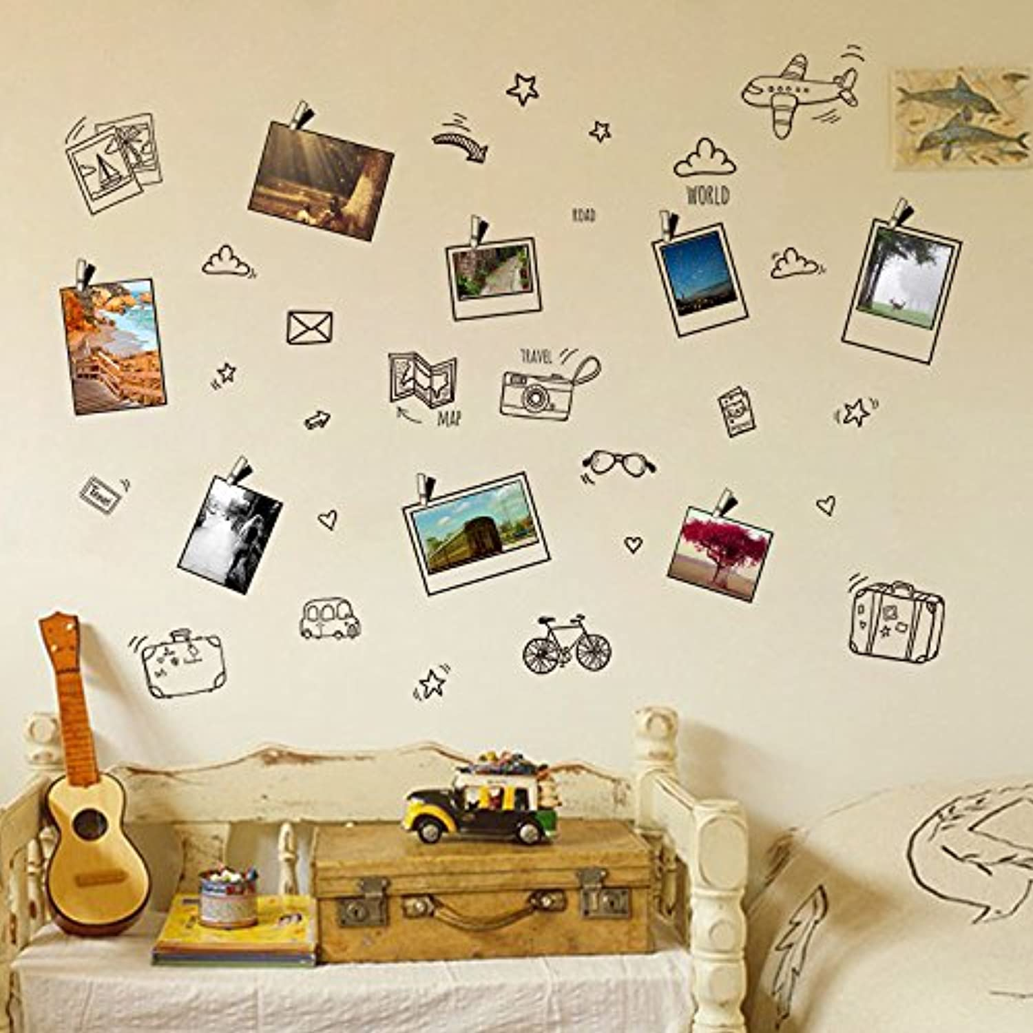 Znzbzt Photo Frame Photo Photo Stickers Wall Posters Wall Wall Paper selfAdhesive