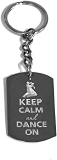 Keep Calm and Dance On Ballroom - Metal Ring Key Chain Keychain