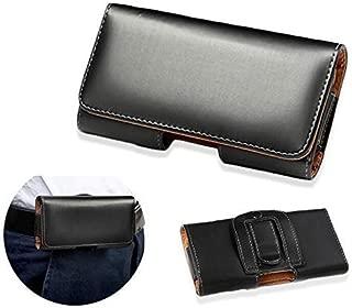 Huawei P20 Lite Pro スマホケース ベルト ホルダー ポーチ 5.5インチ 画面 保護 MY WAY Design レザー 黒 ブラック