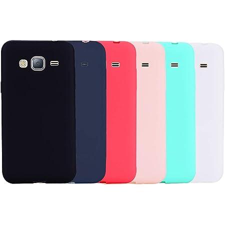 Leton 6X Coque Samsung Galaxy J3 2016 Silicone Ultra Fine TPU Souple Antichoc Housse Galaxy J310/J3 Étui Flexible Soft Ultra Mince Slim Gel Protection ...