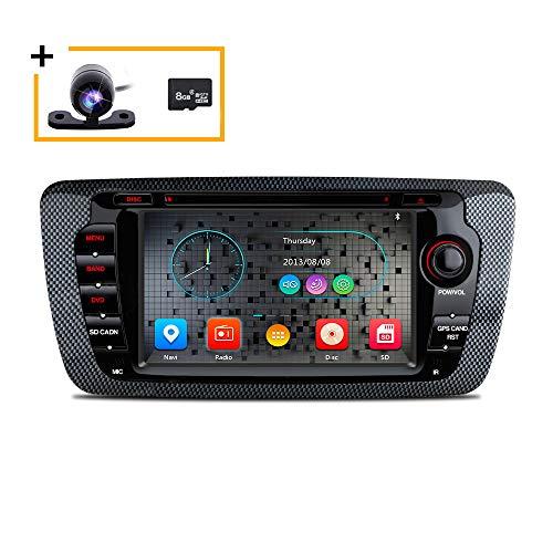 Freeauto Reproductor de DVD para coche 2 DIN para Seat Ibiza 6J Cupra MK4 SportCoupe Ecomotive Radio 2009 2010 2011 2012 2013 GPS Navegación