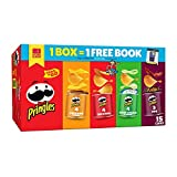 Pringles Potato Crisps Chips Variety Pack, Lunch Snacks, Office and Kids Snacks, Grab N' Go, 20.6oz Box (15 Cans)