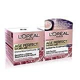 L'Oréal Paris Dermo Expertise - Age Perfect Golden Age Rutina, crema rosa anti arrugas Golden Age día + crema de noche, para pieles maduras
