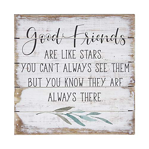 Simply Said, INC Perfect Pallet Petites 8' Wood Sign - Good Friends are Like Stars