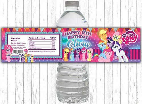 10 My Little Pony Pink Popular brand in the world and Brand Cheap Sale Venue Rainbow Purple Party Birthday B WATER