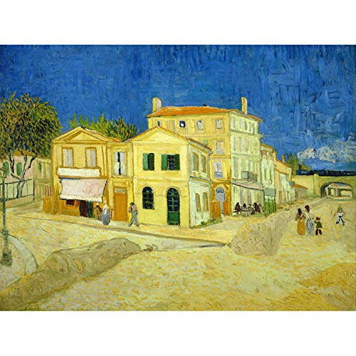 Vincent Van Gogh The Yellow House Art Print Canvas Premium Wall Decor Poster Mural Amarillo Casa Pared Póster
