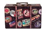 Sarah B Truhe Kiste KD 1291 Koffer, Kofferset, Holztruhe Kunstleder bezogen