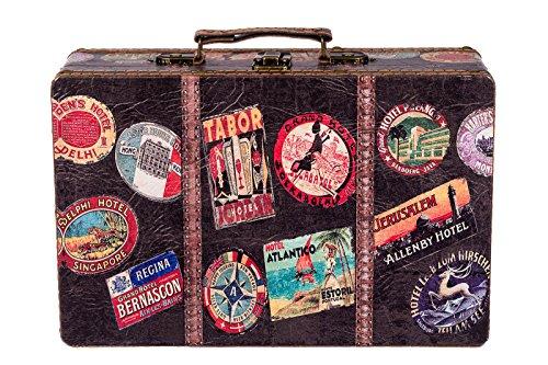 Truhe Kiste KD 1291 Koffer, Kofferset, Holztruhe mit edlem Leder bezogen