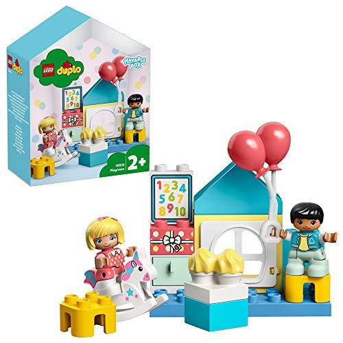 LEGO DUPLO La salle de jeux, Boîte de maison de poupées, Grandes briques, Jouet d'apprentissage pour les tout-petits de 2 ans et plus, 104 pièces, 10925