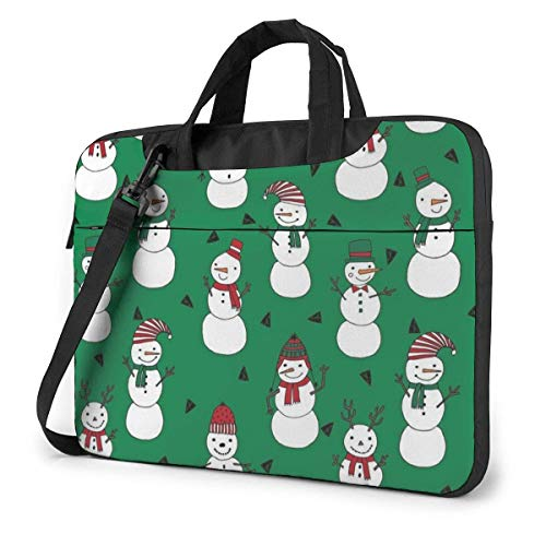 Christmas Snowman Laptop Sleeve Case 14 Inch Computer Tote Bag Shoulder Messenger Briefcase for Business Travel
