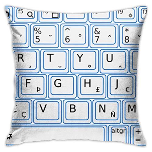 Kinderzimmer Dekor Kissenbezug Tastatur Computer Baumwolle Platz Dekokissen Abdeckung für Bett Sofa Stuhl Kissenbezüge 18 X 18 Zoll