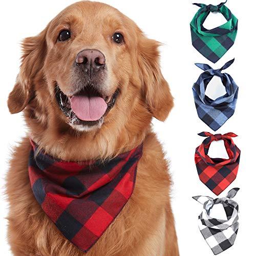 Odi Style Buffalo Plaid Dog Bandana 4 Pack