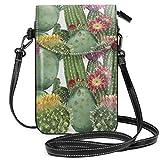 Becomfort Boho Acuarela Cactus Flores Monedero largo Bolso pequeño Monedero multifunción para teléfono móvil