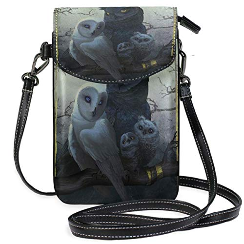 XCNGG bolso del teléfono Owl Cell Phone Purse Wallet for Women Girl Small Crossbody Purse Bags