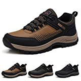 Zapatos de Senderismo para Hombre Impermeables Zapatillas da Trekking Antideslizantes Al Aire Libre Zapatillas de Deporte Marrón 42