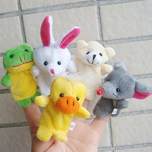Mignonnes Marionnettes à Doigts en Forme d'Animal Gift d'Enfant(5Pcs: Random)