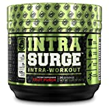 INTRASURGE Intra Workout Energy BCAA Powder - 6g BCAA Amino Acids, Natural Caffeine, 4g Citrulline Malate, and More for Muscle Building, Strength, Endurance, & Recovery - Fruit Punch, 20sv