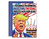 Donald Trump Inspired Birthday Greeting Card COVID Inject the Cake Parody Funny...