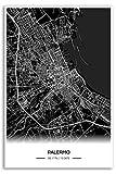 Zulumaps Poster Palermo Stadtplan - Hochwertiger Kunstdruck