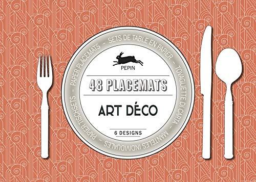 48 placemats Art Déco: Paper placemats - sets de table en papier - tovagliette di carta - manteles indivisuelles - Papier Tischsets