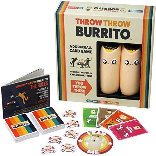 LUCKFY Burrito, Gioco di Carte Burrito per 2-6 Persone Gioco di Armi Gioco di Schivata Gioco da Tavolo di Mutuo Soccorso per Giochi di Famiglia/Festa/Genitore-Figlio Regali di Natale