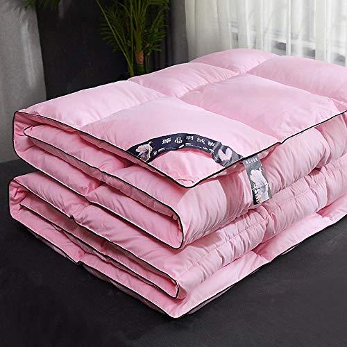 CHOU DAN bettdecke 220 x 240 cm Sommer,Duvet White Goose Down Verdickte Winter Quilt Single Double Spring und Autumn Quilt-150 x 200 cm 4000 g_Hell-Pink