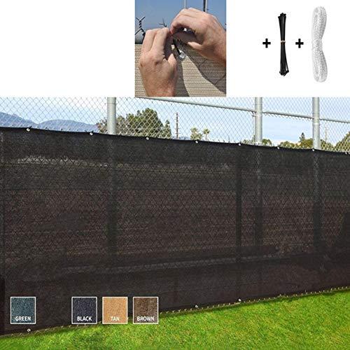 YUDEYU Rectángulo Red De Sombra Anti-privacidad A Prueba De Viento Polvo Cerca Jardinería Sunnet (Color : Black, Size : 0.9x12m)