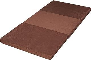 アイリスプラザ マットレス シングル 高反発 ブラウン 10cm 三折り 28D KUM3-F10-28D-S