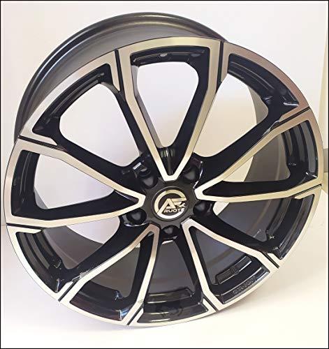 1 Rolling Llantas de Aleación Ece NAD 8 18 5X112 46 57,1 Compatible Con Volkswagen Golf 5 6 7 8 T-Roc Tiguan Passat Negro Brillante Diamante
