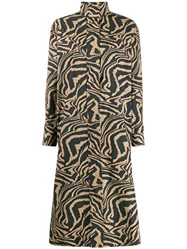 Luxury Fashion   Ganni Dames F4257185 Bruin Katoen Jurken   Lente-zomer 20