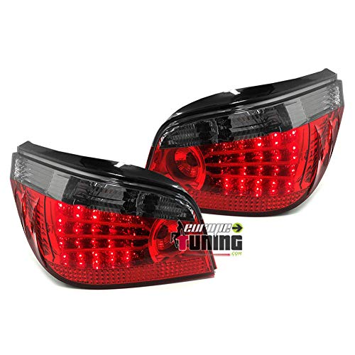 europetuning - 11851 - FEUX A LEDS ROUGES NOIRS SERIE 5 E60 BERLINE PHASE 1 2003-2007