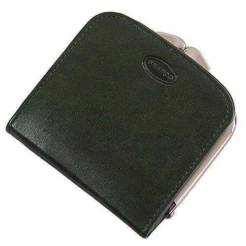 Branco Damen Leder Geldbörse, Portemonnaie Geldbeutel, Rindleder 6 Farben Bügel Börse Knipser 9,5 x 9,5 cm GoBago (Grün)