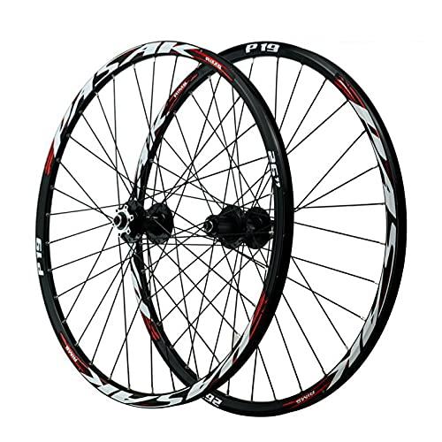 ZPPZYE Ruedas de Bicicleta MTB 26 Pulgadas 27,5 29ER Aleación Aluminio Freno de Disco Ruedas de Ciclismo Montaña 32 Hoyos para Velocidad 7/8/9/10/11 (Color : Rojo, Size : 27.5 Inch)