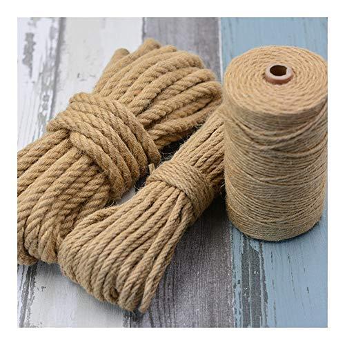 QHKS DIY Gato Rascador Cuerda de sisal Trenzado Cuerda reemplazo del árbol del Gato Que rasguña el Gato de Juguete Escalada Marco de la Cuerda Encuadernación (Color : 50 Meters, Size : 8mm)