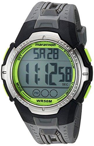 Marathon by Timex Men's TW5M06700 Digital Full-Size Gray/Black/Green Resin Strap Watch