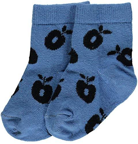 Smafolk Socken Cendre Blue mit Äpfeln Größe 23-26